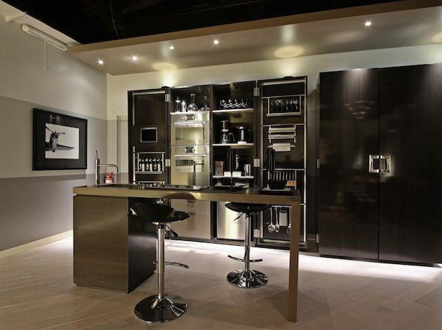 Bachelor pad basement kitchen
