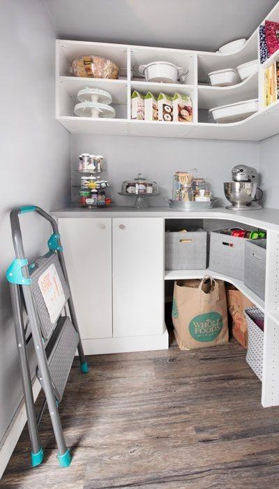 Closet space basement kitchen