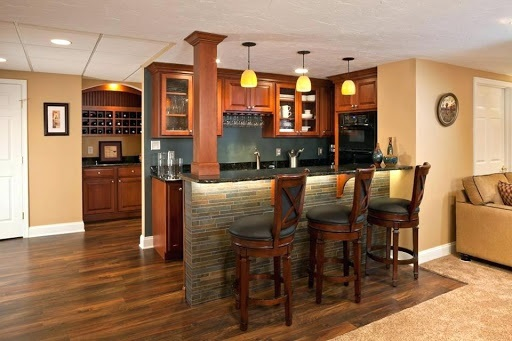 DIY Basement Bar
