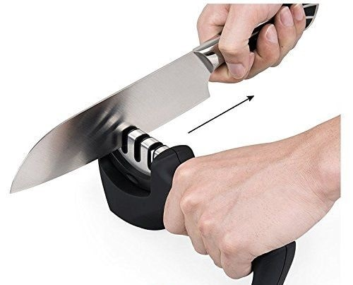Manually Sharpening a Serrated Knife:-