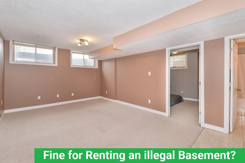 Fine for Renting an illegal Basement